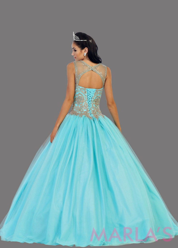 Long Applique Ball Gown
