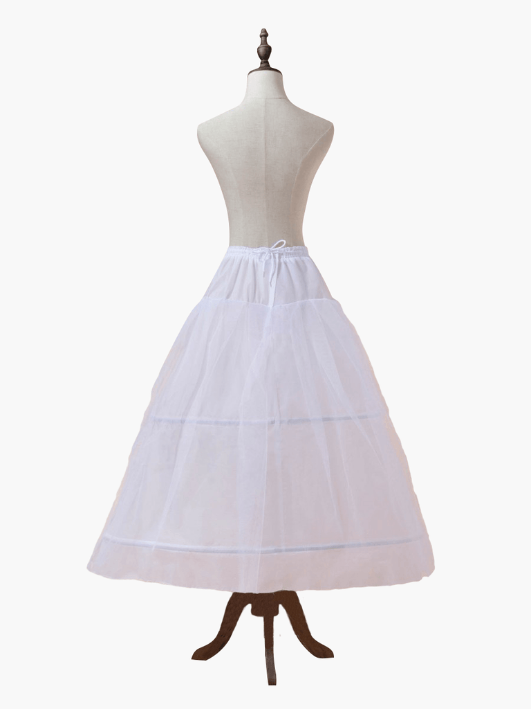 Front of petticoat or hula hoop skirt. This large skirt is worn under a ballgown to make the gown bigger or puffier. It is one size fits all and is perfect for your wedding ballgown, quinceanera ballgown, engagement ballgown.Skirt to make dress bigger