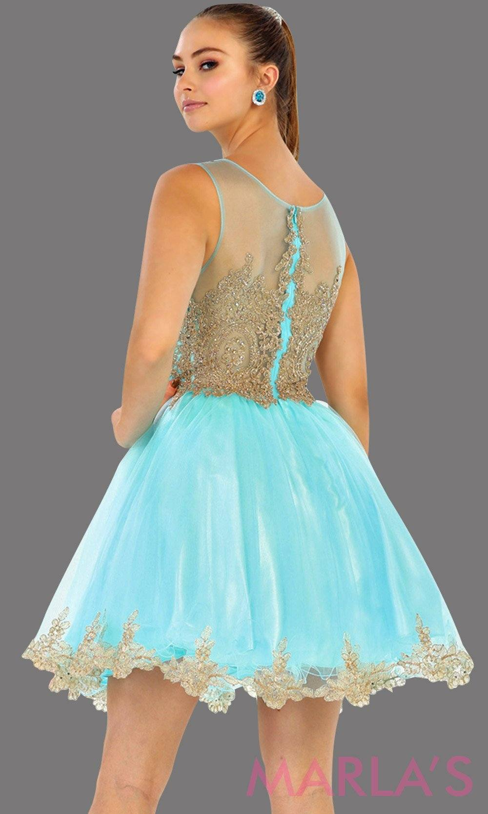 Fine Gold Prom Dress Short Crest - All Wedding Dresses ...