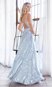 Cinderella Divine AM518 long light blue scoop neck sequin beaded party dress.Baby blue full length open back dress is perfect for black tie event,prom, indowestern gown, wedding reception/engagement dress, formal wedding guest dress.Plus sizes avail-b.jpg