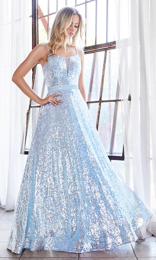 Cinderella Divine AM518 long light blue scoop neck sequin beaded party dress. Baby blue full length open back dress is perfect for black tie event, prom, indowestern gown, wedding reception/engagement dress, formal wedding guest dress.Plus sizes avail.jpg