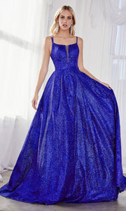Cinderella Divine CB051 long royal blue metallic beaded dress with straps. Perfect royal blue evening dress for prom, quinceanera dress, indowestern gown, prom, engagement/wedding reception, debut, sweet 16. Sweet 15.Plus sizes available.jpg