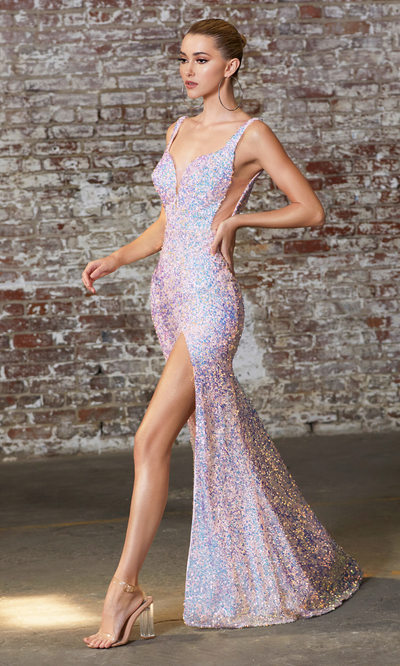Cinderella Divine CD187 long sequin dress