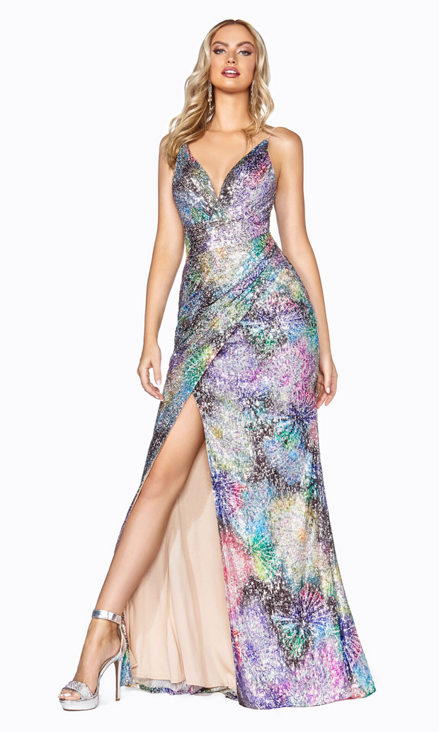 Cinderella Divine CDS346 long sequin dress
