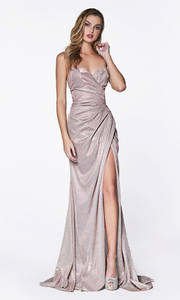 Cinderella Divine CF331 mauve metallic dress