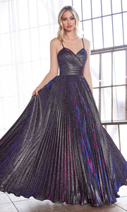 Cinderella Divine CH221 long flowy purple or dark purple dress with straps and pleated skirt.jpg
