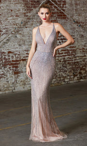 Cinderella Divine CK920 long fitted sequin beaded dress with open back.jpg