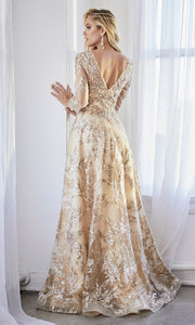Cinderella Divine CR855 long modest mother of the bride dress.