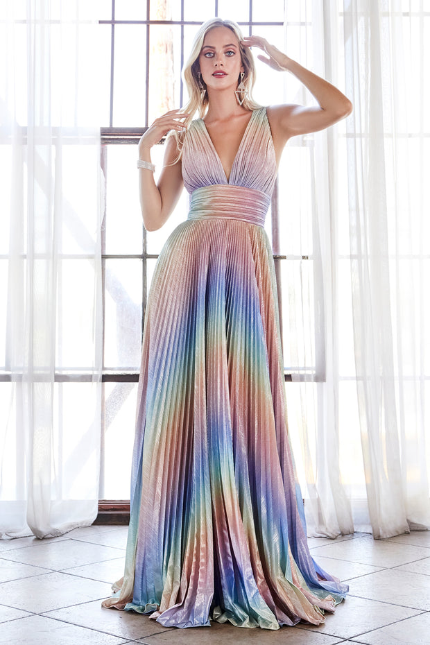Cinderella Divine CW223 rainbow long flowy dress