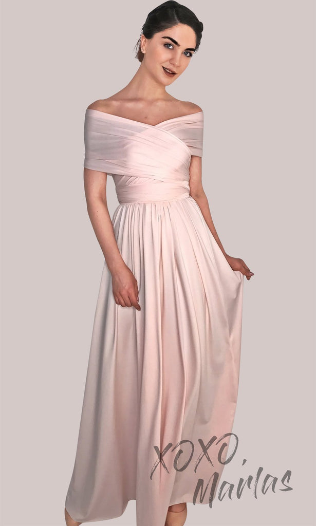 8e98657c1d7 One dress worn in BLong red infinity bridesmaid dress or multiway dress or convertible  dress.