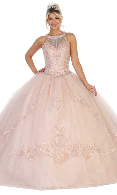 May Queen - LK128 Embellished Halter Ball Gown