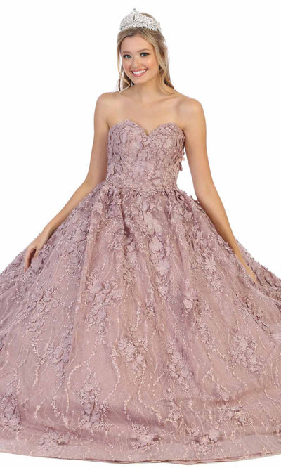 May Queen - LK140 Floral Sweetheart Ballgown