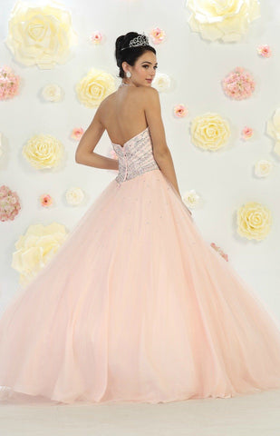 * Long High Neck Long fuchsia Ball Gown