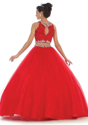Long Two Piece Ball Gown