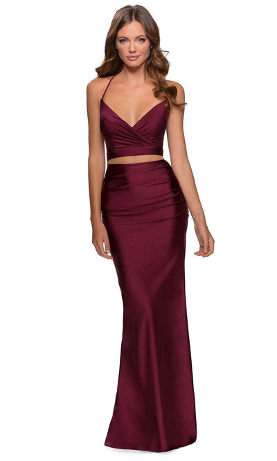 La Femme - 28473 Two-Piece Jersey Sheath Dress In Purple