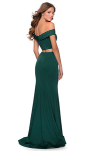 La Femme - 28521 Two-Piece Of Shoulder Sheath Dress In Green