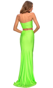 La Femme - 28972 Two-Piece Long Sheath Dress In Green
