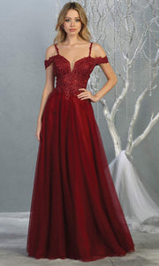 Mayqueen MQ1694 Long Burgundy Dress