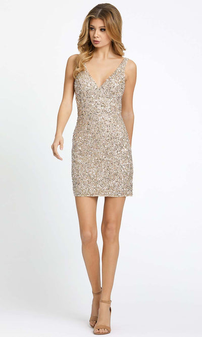 Mac Duggal Cocktail - 5201N Sleeveless V-Neckline Sequined Dress