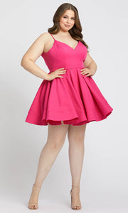 Mac Duggal Fabulouss - 49225F Sleeveless V-Neck Short Dress in Pink