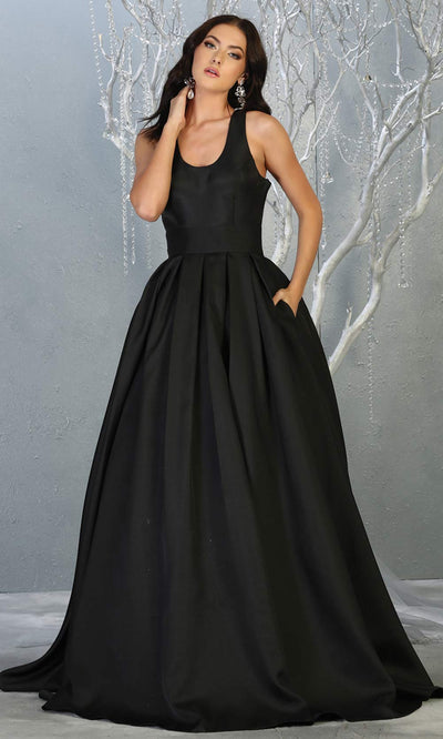 Mayqueen MQ1721-long black semi ballgown w/open back. This simple black dress is perfect for prom, engagement/e-shoot, wedding reception dress, bridesmaid dresses, formal wedding guest dress, sweet 16 dress, debut. Plus sizes avail.jpg