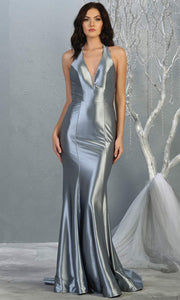 Mayqueen MQ 1740 long dusty blue halter evening fitted mermaid dress w/low back.Full length dusty blue satin gown is perfect for enagagement/e-shoot dress, formal wedding guest, indowestern gown, evening party dress, prom, bridesmaid. Plus sizes avail.jpg