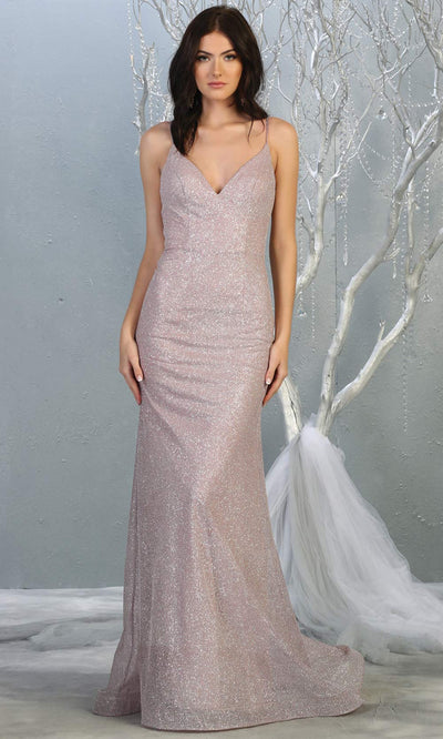 Mayqueen MQ1789 long mauve pink v neck evening fitted dress. Full length dusty rose glittery gown w/straps is perfect for  enagagement/e-shoot dress, formal wedding guest, indowestern gown, evening party dress, prom, bridesmaid. Plus sizes avail.jpg
