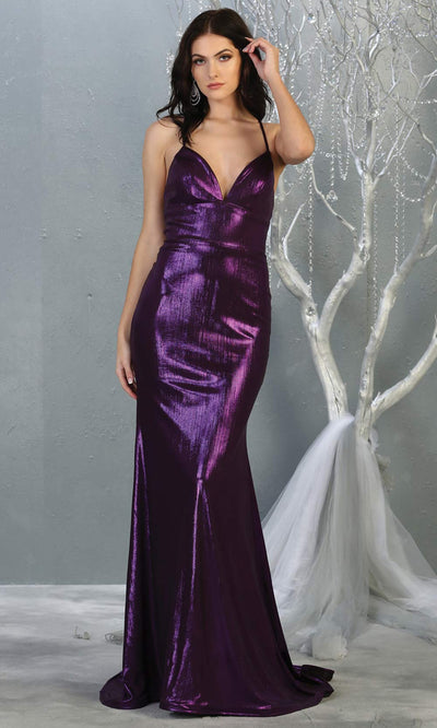 Mayqueen MQ1827 long dark purple sexy fitted shiny prom mermaid dress w/open back. Full length eggplant gown is perfect for enagagement/e-shoot dress, wedding reception dress, indowestern gown, formal evening party dress, prom. Plus sizes avail1.jpg