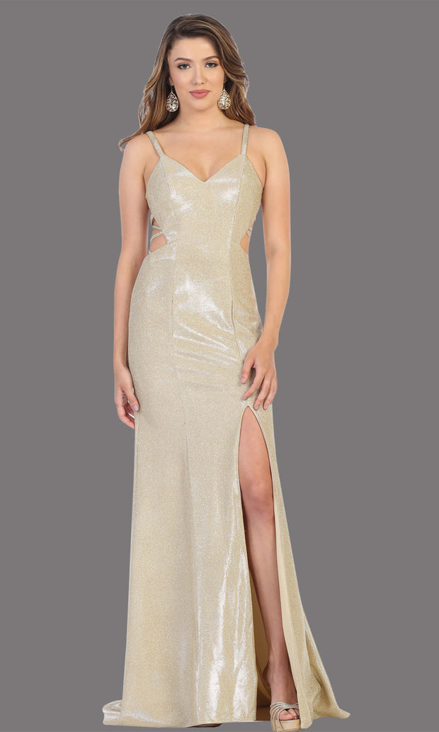 Mayqueen RQ7776-Long Gold dress with open back & high slit.jpg