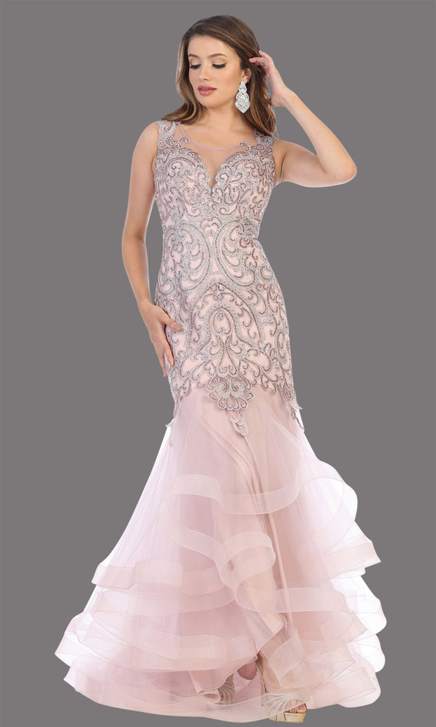 Mayqueen RQ7778 long mauve high neck shoulder mermaid sequin dress. Full length gown is perfect for  enagagement/e-shoot dress, formal wedding guest, indowestern gown, evening party dress, prom, bridesmaid. Plus sizes avail.jpg