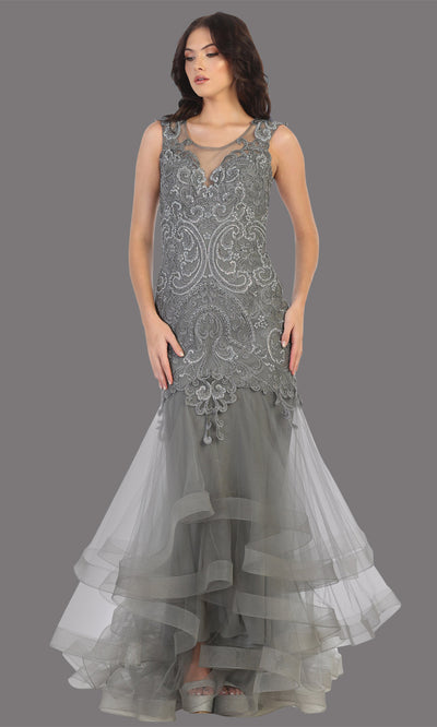 Mayqueen RQ7778 long silver high neck shoulder mermaid sequin dress. Full length gown is perfect for  enagagement/e-shoot dress, formal wedding guest, indowestern gown, evening party dress, prom, bridesmaid. Plus sizes avail.jpg