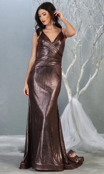 Mayqueen RQ7838 long mauve metallic v neck evening gown w/open back. Full length mauve fitted gown is perfect for  enagagement/e-shoot dress, formal wedding guest, evening party dress, prom, engagement, wedding reception. Plus sizes avail.jpg