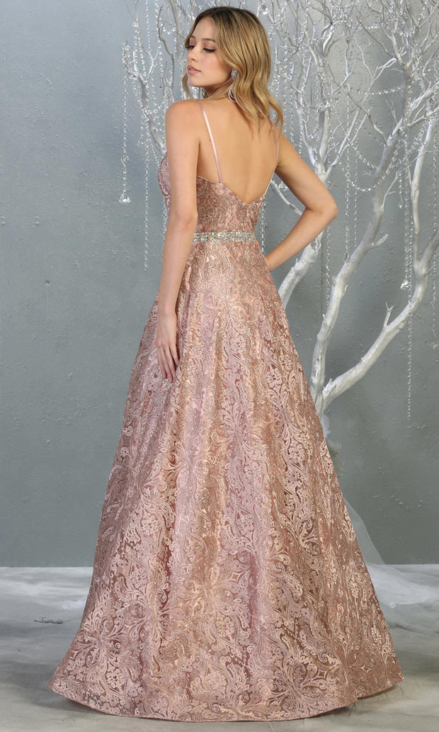 Mayqueen RQ7880 long mauve lace  evening flowy dress w/straps. Full length flowy dress is perfect for  enagagement/e-shoot dress, formal wedding guest, evening party dress, prom, black tie, gala, indowestern. Plus sizes avail-b.jpg
