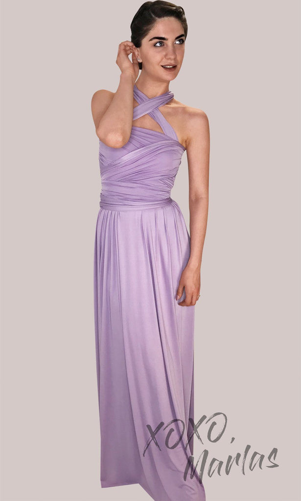 FLong periwinkle blue infinity bridesmaid dress or multiway dress or convertible dress.One dress worn in multiple ways.This light blue one size dress is great for bridesmaid, prom, destination wedding, gala, cheap western party dress, semi formal