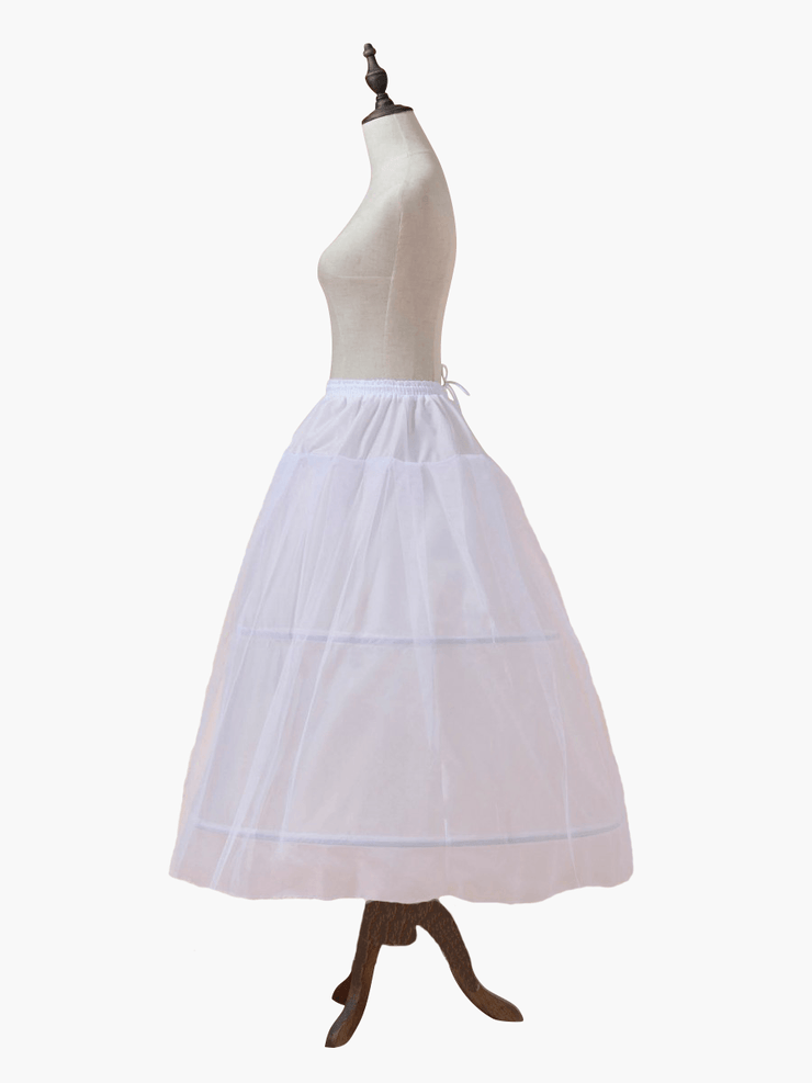 Side of petticoat or hula hoop skirt. This large skirt is worn under a ballgown to make the gown bigger or puffier. It is one size fits all and is perfect for your wedding ballgown, quinceanera ballgown, engagement ballgown.Skirt to make dress bigger