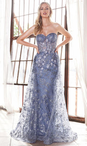 Cinderella Divine - CB046 Applique Dress With Overskirt