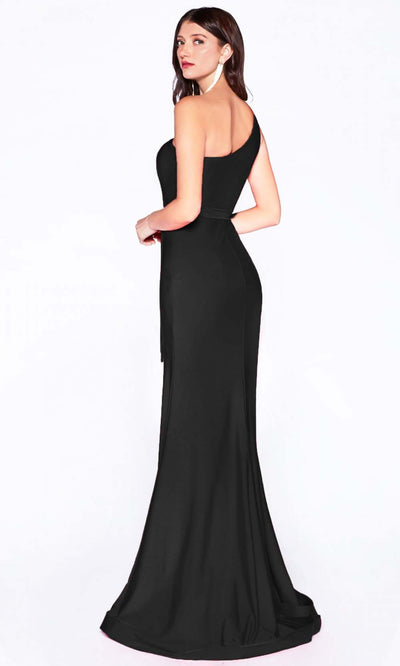 Cinderella Divine - CD0143 Asymmetric Fitted Dress In Black