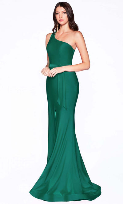 Cinderella Divine - CD0143 Asymmetric Fitted Dress In Green