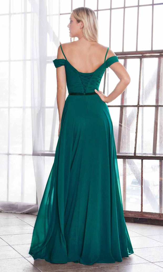 Cinderella Divine - CD0156 Cold Shoulder Chiffon Dress