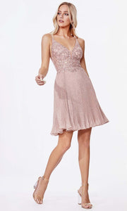 Cinderella Divine - CD0163S Scoop Back Glittered Dress