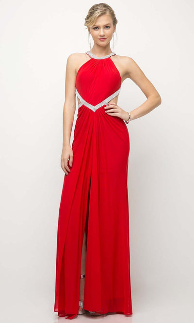 Cinderella Divine - CD019 Halter Neck Open Back Dress In Red