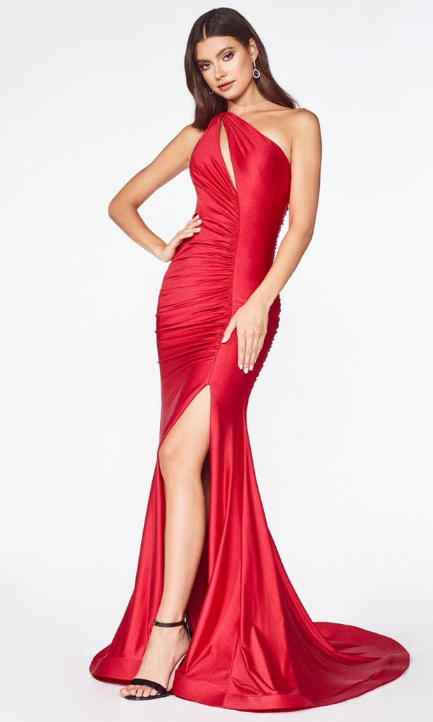 Cinderella Divine - CD0146 Asymmetric Ruched Gown