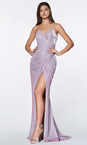 Cinderella Divine - CE0019 Sweetheart Glittered Gown In Purple