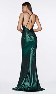 Cinderella Divine - CR825 Metallic Sheath Dress
