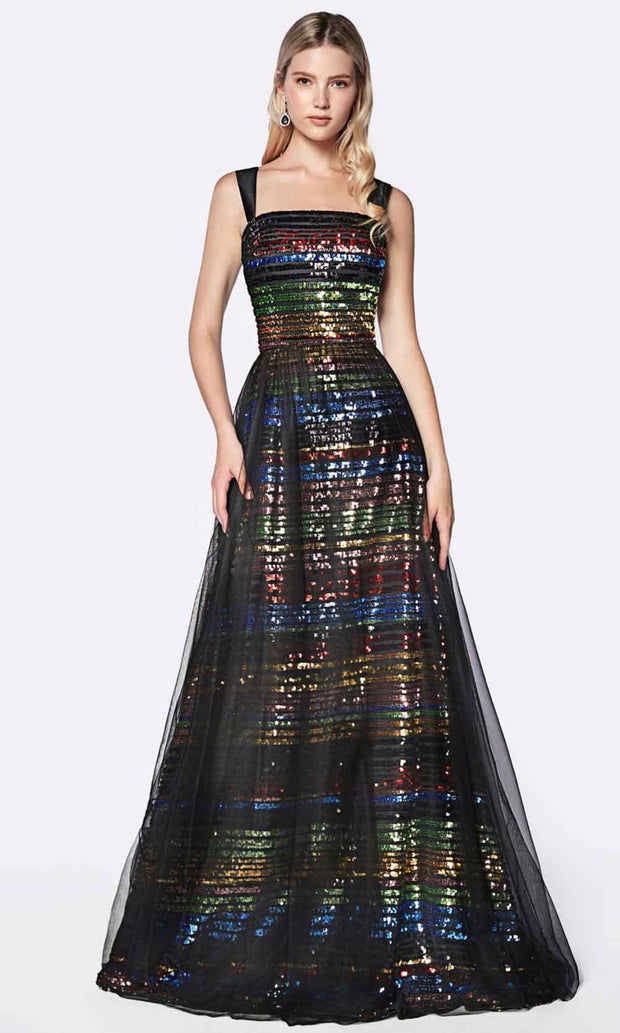 Cinderella Divine - CS032 Multicolor Sequins Dress In Black