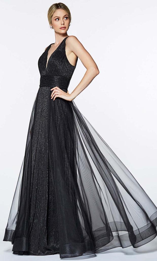 Cinderella Divine - CT0040 Metallic Tulle Dress In Black
