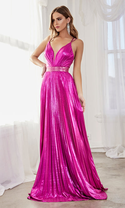 Cinderella Divine CW230 long magenta pink flowy evening dress