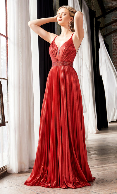 Cinderella Divine CW230 long red flowy evening dress