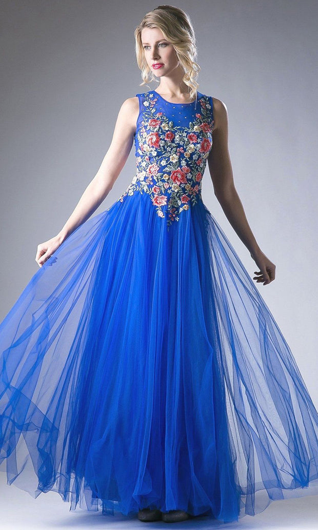 Cinderella Divine - HW15 Embroidered A-Line Dress In Blue