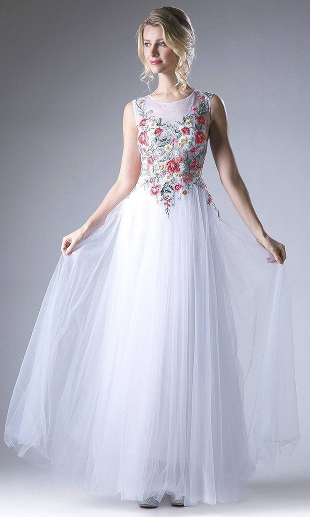Cinderella Divine - HW15 Embroidered A-Line Dress In White